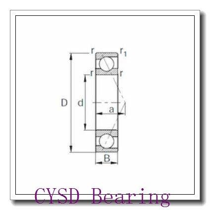 85 mm x 180 mm x 41 mm  CYSD 7317B angular contact ball bearings