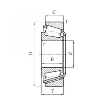 30 mm x 72 mm x 19 mm  CYSD 31306 tapered roller bearings