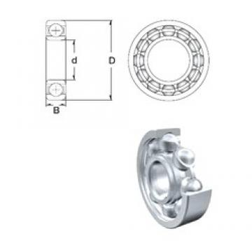 1 mm x 3 mm x 1 mm  ZEN S681 deep groove ball bearings