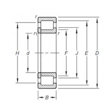 20 mm x 52 mm x 15 mm  Timken NUP304E.TVP cylindrical roller bearings